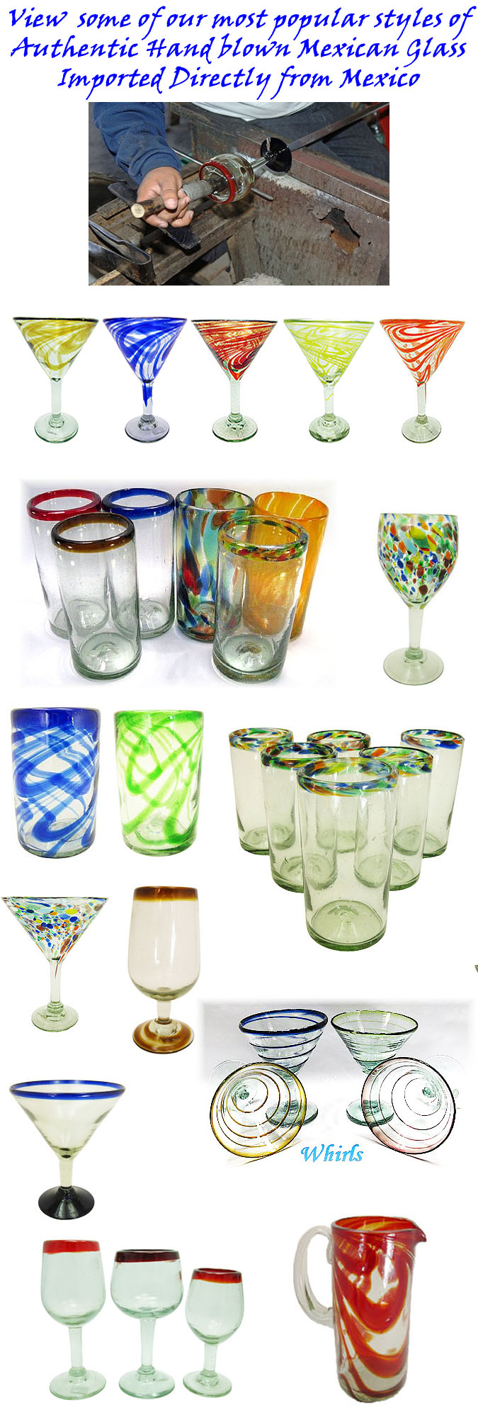 colored drinking glasses from mexico